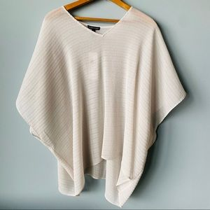 Eileen Fisher Recycled Polyester Poncho Top S/M